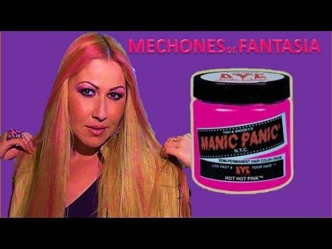 Como Hacer Mechones de Fantasia Color Rosa .Semi permanentes