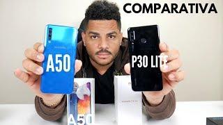Samsung Galaxy A50 VS Huawei P30 Lite Cual es Mas rapido