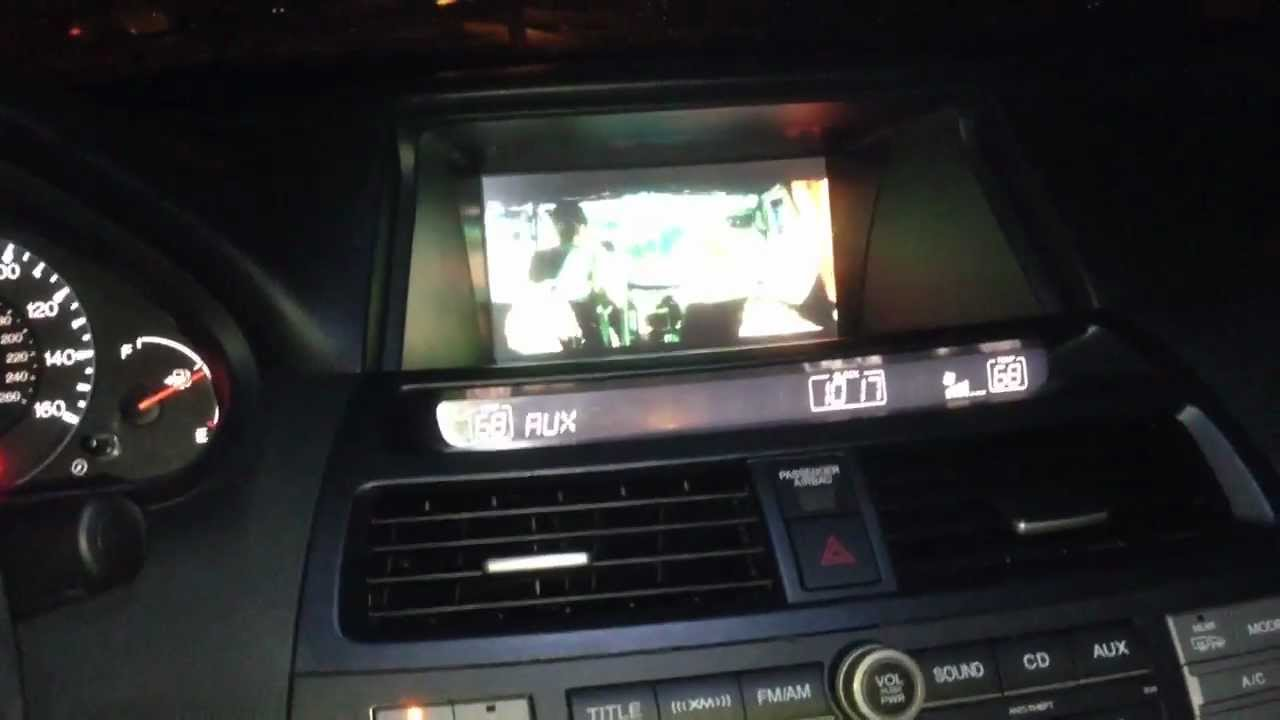 2008 Honda Accord Navigation Video Mod Youtube