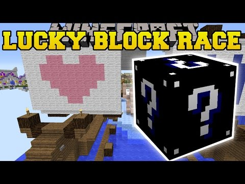 Minecraft: EXTREME BLACK LUCKY BLOCK RACE - Lucky Block Mod - Modded Mini-Game