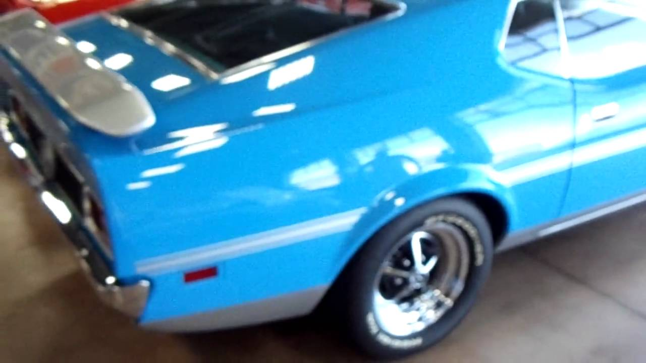 1971 Ford Mustang Mach I 351 Cleveland Grabber Blue