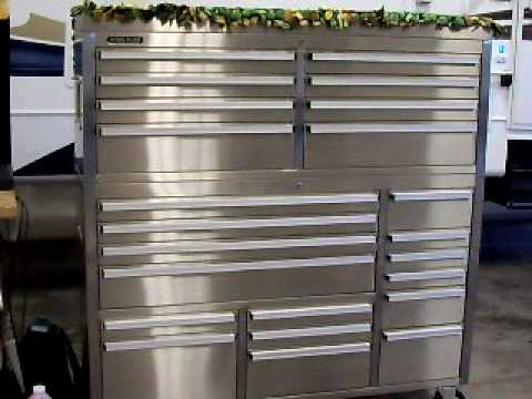 """56"""" Steel glide toolbox and tools - YouTube"""