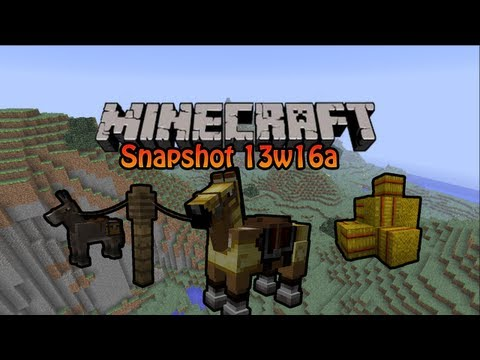 Minecraft Snapshot 13w16a - Horses. Hay Bales en Carpet
