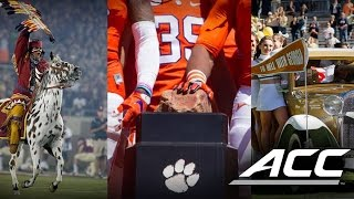 Top 5 Football Team Entrances In The ACC