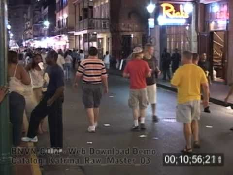 8/28/2005 New Orleans, LA - French Quarter Prep And Party Video. - Katrina Raw Master 03
