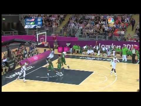 USA vs Nigeria 2012 Olympic Basketball Highlights
