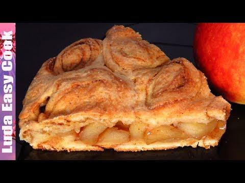 НОВЫЙ Необычный ПИРОГ Яблочный Синнабон на творожном тесте | APPLE PIE CINNABON
