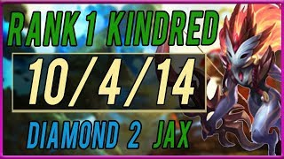 Challenger Kindred Jungle vs Jax  (Forest Within Kindred) - League of Legends