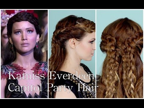 Katniss Everdeen's Catching Fire Capitol Party Hairstyle