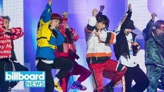 BTS Stops By 'Ellen' to Perform 'Mic Drop'   Billboard News