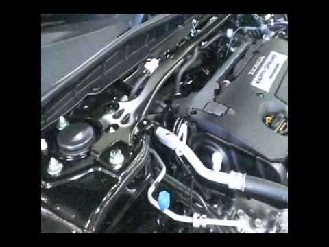 2013 Honda Accord engine compartment review. Earth Dreams. Video # 3 of 6