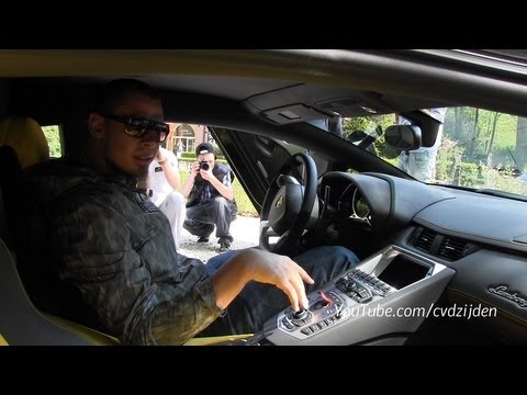 DJ Afrojack in his new Lamborghini Aventador LP700-4!