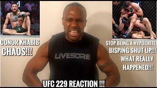 UFC 229 CHAOS REACTION! CONOR MCGREGOR vs KHABIB NURMAGOMEDOV!!!!