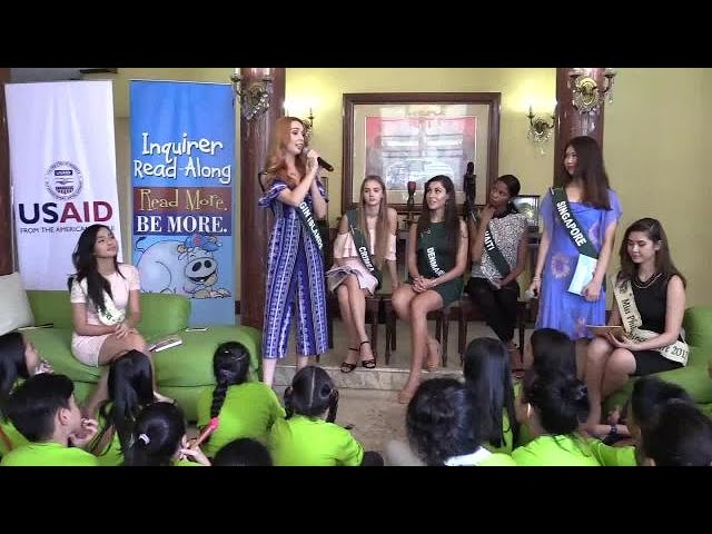 Miss Earth 2017 beauties call for nature conservation at Inquirer Read-Along