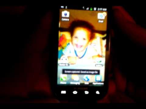 Screen shot on Samsung exhilarate