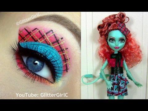 make up návody, make up na Halloween, make up karneval, líčenie očí, líčenie návody, monster high líčenie