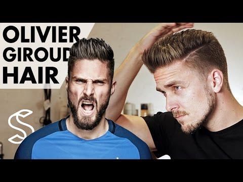 Olivier Giroud Hairstyle 2017 ★ Arsenal Footballer ★ Short Men Hair Barber