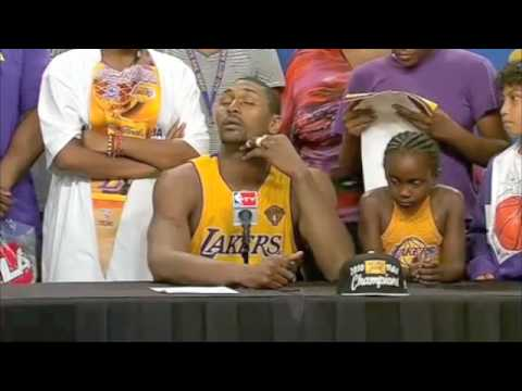 Ron Artest 2010 Finals G7 Press Conference Video