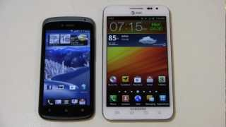 HTC One S vs. Samsung Galaxy Note Dogfight Part 1