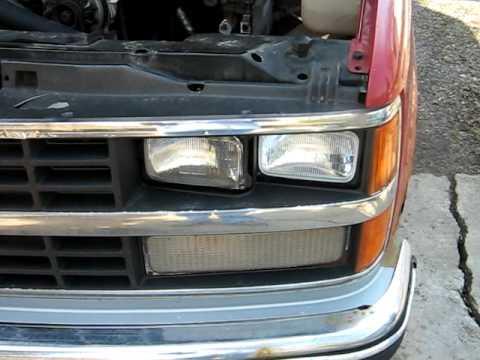 Headlight Change 88 90 Chevy Gmc Truck Youtube