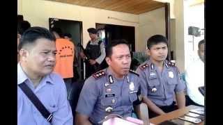 8 April 2014 Jumpa Pers Polres Banggai Pelaku penjambretan dikm 8 pd 30 Maret 2014