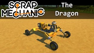 The Dragon, an All-Terrain Acrobatic Convertible Unstoppable Supercar! | Scrap Mechanic
