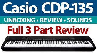 BEST DIGITAL PIANO VALUE? Casio CDP-135 & CDP-130 Keyboard Review & Demo
