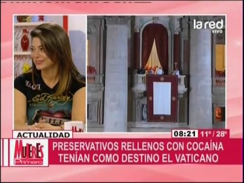 Preservativos rellenos con cocaína tenían como destino el Vaticano