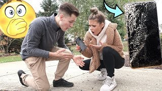 I SMASHED My Girlfriends IPhone Prank...*She Cries*