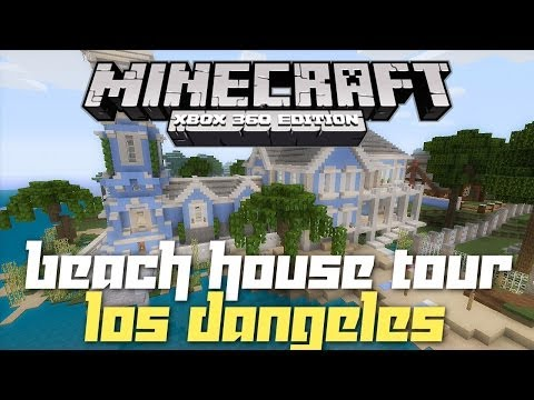 Minecraft Xbox 360: Beach House! (House Tours of Los Dangeles: Ep.10)