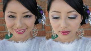 Plummy Silver Holiday Makeup Look