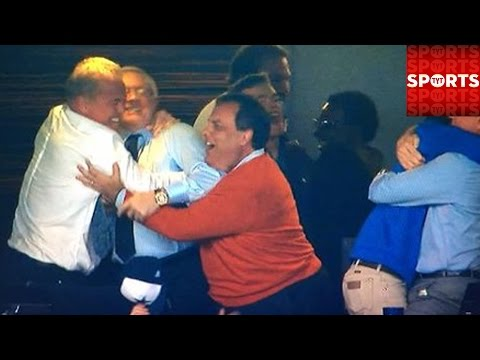Jerry Jones and Chris Christie Share Awkward Victory Hug