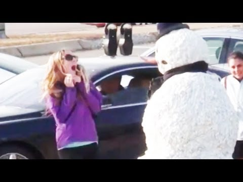 Funny - Girls Freak Out - Snowman Prank Season 2 Episode 10 video