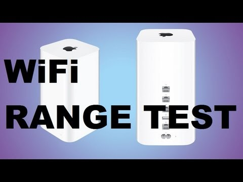 Apple AirPort Extreme WiFi Range & Speed Test