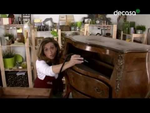 Reciclarte una c moda francesa a la ltima youtube - Como restaurar una comoda ...