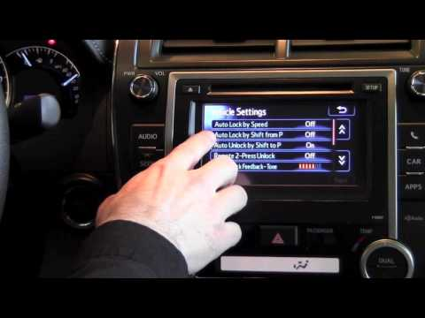 2012 Toyota Camry Auto Locking Feature How To By Toyota