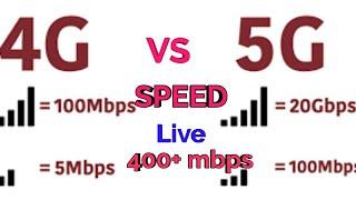 5G vs 4G Speed Test !! 400+ Mbps 5g speed live test