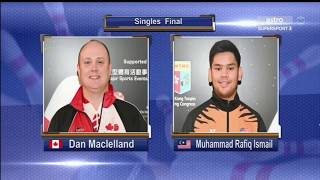 2018 WBMC Singles Final   Rafiq Ismail (Malaysia) vs Dan McLelland (Canada)