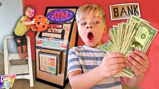 Turning CANDY Into REAL MONEY!! 💵 (BOX FORT BANK ATM)