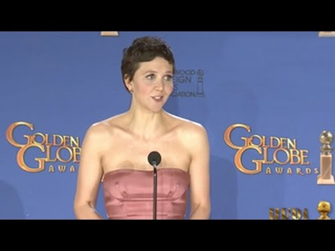 Maggie Gyllenhaal Golden Globes 2015 Press Room Interview