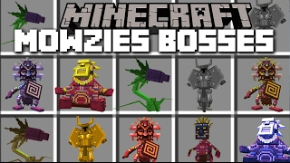 Minecraft MOWZIES BOSS MOD / DEFEND YOUR TRIBE AGAINST THE MOBS BOSSES!! Minecraft