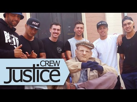 DANCING GRANDPA PRANK By Justice Crew Feat. The Royal Stampede