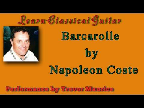 Barcarolle by Napoleon Coste (www.learnclassicalguitar.com)