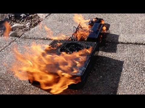 burning a new xbox one fire test youtube. Black Bedroom Furniture Sets. Home Design Ideas