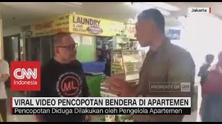 Viral! Video Pencopotan Bendera di Apatemen