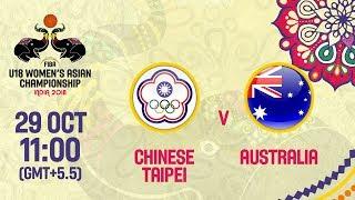 Китайский Тайбэй до 18 (Ж) : Австралия до 18 (Ж)
