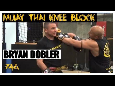 Ajarn Bryan Dobler at Double Dose Muay Thai – Lead Knee Block – Jab – Rear Leg Kick