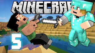 """""""ENCHANT SNOW ATTACK!"""" - MINECRAFT HUNGER GAMES SOLO #5"""
