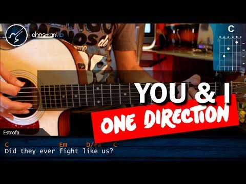 Como tocar You I ONE DIRECTION en Guitarra Acustica HD Tutorial COMPLETO