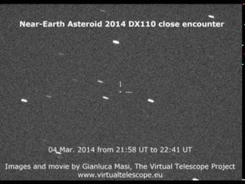 Near-Earth Asteroid 2014 DX110: a movie